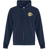 CTK ATC Men's Everyday Fleece Full Zip Hooded Sweatshirt (Design 2) - Navy (CTK-107-NY)