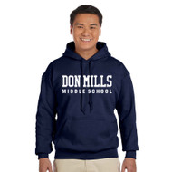 DMM Gildan Adult Heavy Blend 50/50 polycotton Hoodie - Navy - Embroidery