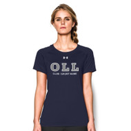OLL Women's Under Armour Short Sleeve Locker Tee - Navy