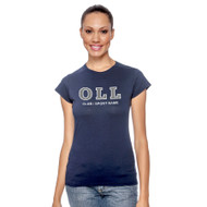 OLL Gildan Ladies Softstyle Junior Fit T-Shirt - Navy