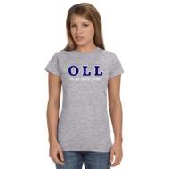 OLL Gildan Ladies Softstyle Junior Fit T-Shirt - Grey (OLL-034-GY)
