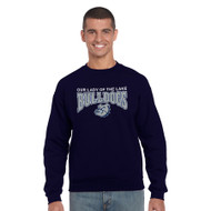 OLL Gildan Cotton Crew Neck Sweater - Navy (OLL-036-NY)