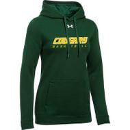 CSS Under Armour Women's Hustle Fleece Hoody - Dark Green (CSS-023-GN)