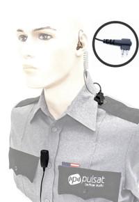 Pulsat TW47 Professional Series 2-Wire Surveillance Kit for Motorola CP200 CP200XLS CP200D CP185 EP450