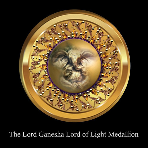 The Lord Ganesha: Lord of Light Medallion           Lord Ganesha is one of the most powerful of all the Celestial Deities. His body is said to contain the power of the whole universe and he can remove any obstacle.     The Lord Ganesha Lord of Light Medallion provides the user with a small amount of the power of the God himself. Just as the Lord Amitabha Buddha Vessel allows the user to possess a small amount of the power of the God, the Lord Ganesha Medallion does the same. Unlike the Lord Ganesha vessel that we use to offer this can be worn with you daily. There are some upgraded features and symbols on this medallion that will allow for the purest and strongest of energy's to flow through you.    There is a term that applies to prayer to a very personal aspect of a god. This term is Ishtadevata. It refers to a very intimate part of the deity. When one owns a medallion or vessel with the properties of the Ishtadevata, he/she can rely on a very intimate connection with the power of the God.     The Lord Ganesha Lord of Light Medallion allows the user to anchor a portion of the power of Lord Ganesha on this world. In addition to clearing karma and increased prosperity, the user can act as a vessel for the God. This effectively makes one an Avatar for the Power of Lord Ganesha during life and beyond. Because one makes the investment of faith and power in the God, the blessing extends beyond death itself.     Owning this Medallion makes one an Avatar of the Lord Ganesha. The power of the medallion will extend into your life and the life of others who are near you. The longer you own it, the more the power of the God manifests within your life. Ultimately, your life will mirror that of the God and dissolve old nagging blocks and makes room for prosperity in your life.    Price: $400.00    ****If one owns the original Lord Ganesha Vessel, meditate with that in your right hand and the Lord Ganesha medallion in your left had for 21 minutes. After your meditation is completed, place the Vessel on your alter on the same level of your statues and vessels, then wear the medallion for 8hrs. This will create a bridge between you and Lord Ganesha that only you will be able to understand.