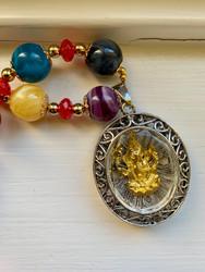 Lord Ganesha Necklace (circular amulet)
