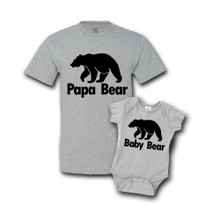 Daddy & Me Gray Set- Papa/Baby Bear