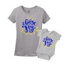Mommy & Me Gray/Blue-Yellow Set -  Choose Joy