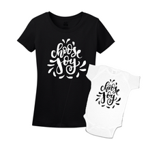 Mommy & Me Black/White Set - Choose Joy