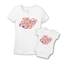Mommy & Me White/Red Set - Love
