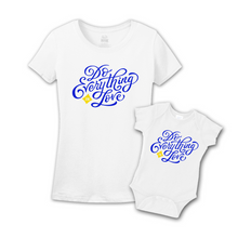 Mommy & Me White/Blue Set - Love