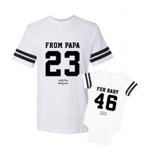 Daddy & Me White Set - Chromosomes