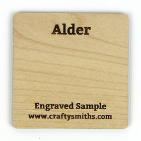 Alder - Tier 3 Domestic Hardwood - Engraved Sample Chip