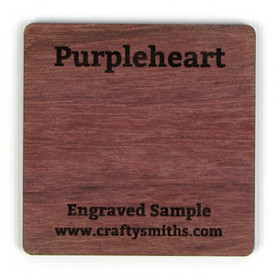 Purpleheart - Tier 4 Exotic Hardwood - Engraved Sample Chip