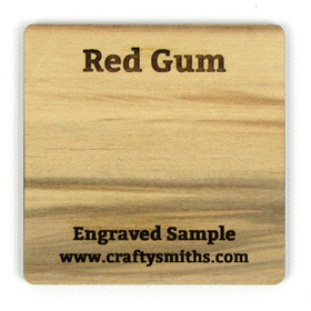 Red Gum - Tier 3 Domestic Hardwood - Engraved Sample Chip