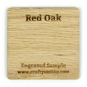Red Oak - Tier 1 Domestic Hardwood - Engraved Sample Chip