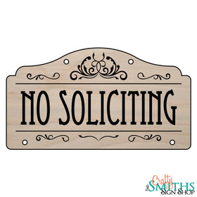 Custom No Soliciting Wood Sign - Top Section