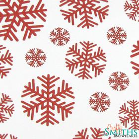 """Round Flake"" Paper Snowflake Cutouts"