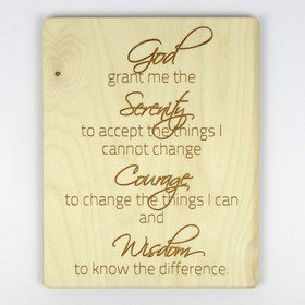 Prayer of Serenity Inspirational Wood Sign
