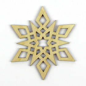 """Star"" Wood Snowflake"