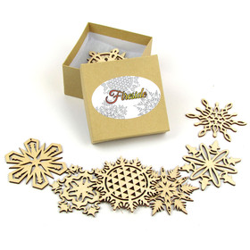 """Fireside Collection"" Themed Snowflakes"