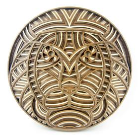 """Lambert the Lion"" - 3D Layered Wood Art - Version C"