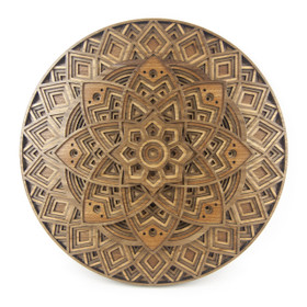 """Lotus Mandala"" - 3D Layered Wood Art - Version C"