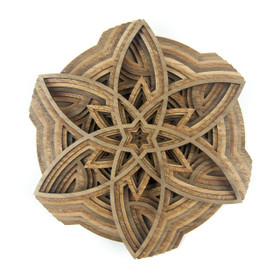 """The Pinwheel"" - 3D Layered Wood Art - Version D"