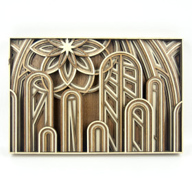 """The Cathedral"" - 3D Layered Wood Art - Version B"