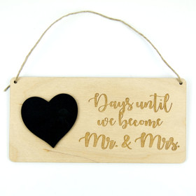 Chalkboard Wedding Countdown Calendar - Mr. and Mrs.