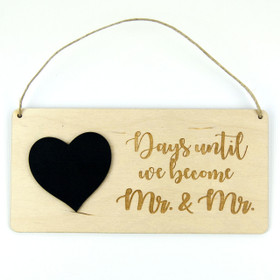 Chalkboard Wedding Countdown Calendar - Mr. and Mr.