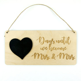 Chalkboard Wedding Countdown Calendar - Mrs. and Mrs.