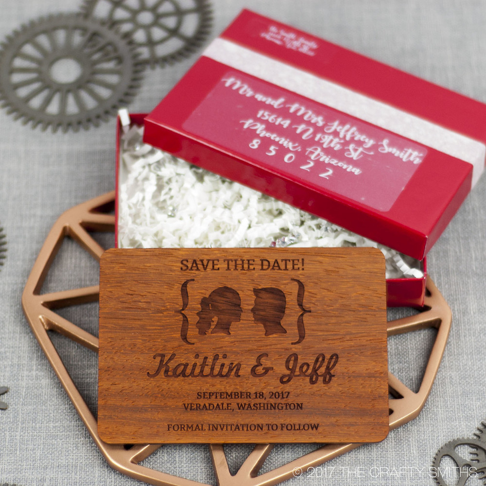 Red Glossy Invitation and Save-the-Date Presentation Boxes ...