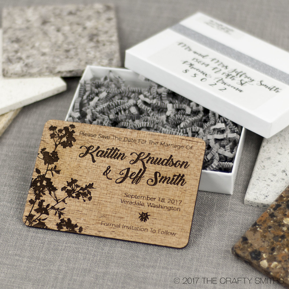 White Glossy Invitation and Save-the-Date Presentation ...