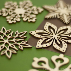 """Woodland Collection"" Snowflakes Only"