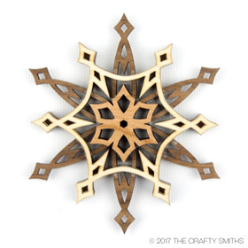 """Starlight"" - 3D Layered Wood Ornament - Version B"