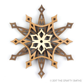 """Starlight"" - 3D Layered Wood Ornament - Version C"