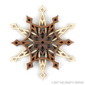 """Starlight"" - 3D Layered Wood Ornament - Version D"