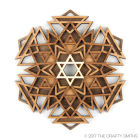 """Nova"" - 3D Layered Wood Ornament - Version A"