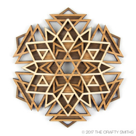 """Nova"" - 3D Layered Wood Ornament - Version B"