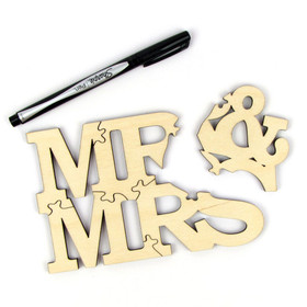 5-Piece Sample Mr and Mrs Guest Book Puzzle