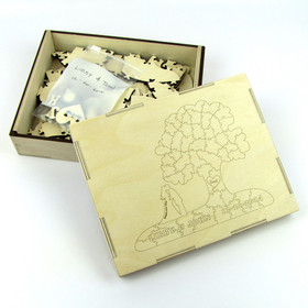 Personalized Guest Book Puzzle Box