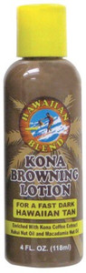 Hawaiian Blend Kona Browning Tanning Lotion 4oz