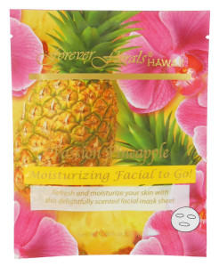 Forever Florals Hawaii Passion Pineapple Facial Face Mask 0.78oz