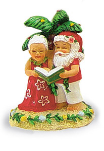 Hawaiian Hand-Painted Christmas Ornament - Caroling Clauses