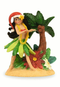 Hawaiian Hand-Painted Christmas Ornament - Hula Honey Girl