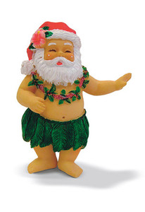 Hawaiian Hand-Painted Christmas Ornament - Hula Santa