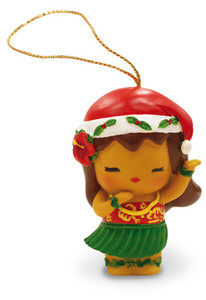 Hawaiian Hand-Painted Christmas Ornament - Island Yumi Aloha (Love/Hello)