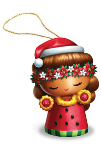 Hawaiian Hand-Painted Christmas Ornament - Island Yumi Hoku (Star)