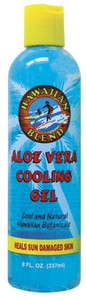 Hawaiian Blend Blue Aloe Vera Cooling Gel 8oz -  Heals Sun Damaged Skin